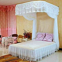 Mosquito Net   + 2 Stands with RAILS - White