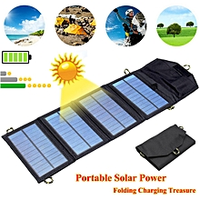 5V7W Folding Solar Panel USB Travel Camping Portable Battery Charger For Phone X
