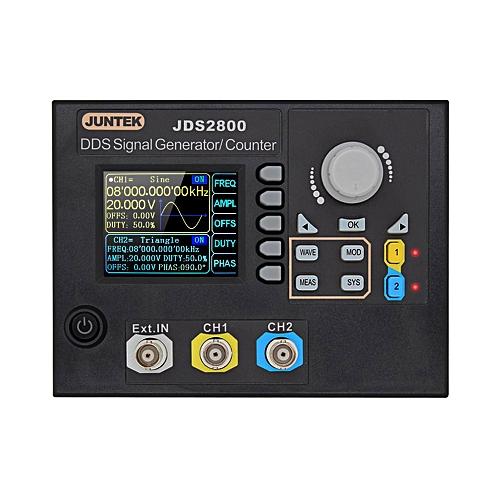 JUNTEK Signal Generator Digital Control Dual-channel DDS Function Arbitrary  Signal Generator Frequency Meter 15MHz 266MSa/s