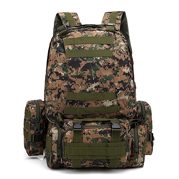 17b2d58ea085 koaisd Outdoor 55L Molle Military Tactical Bag Camping Hiking Trekking  Backpack
