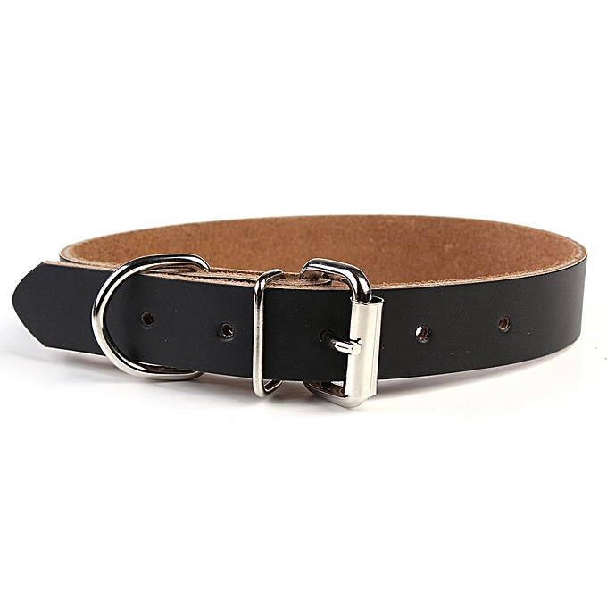... New 2.3 X 53cm 2Colors Cattle Leather Puppy Choker Dog Pet Cat Puppy Collar Neck Buckle