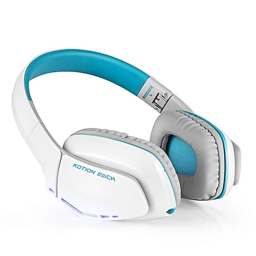 5852120bb5a Generic KOTION EACH B3506 Noise Isolation Bluetooth 4.1 Stereo gaming  Headphone Foldable Wireless Music Headset with Mic 3.5mm for Phone(white  blue)
