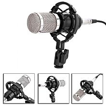 Professional Voice Recorder Condenser Microphone Set Studio Sound Recording Mic With Shock Mount