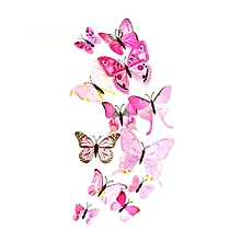 12PCS 3D Butterfly Magnets Wall Decor Stickers Decal Crafts Butterflies Card Making Stickers, Art Decorations for Home and Room