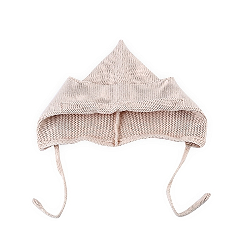 FASHION Baby Tie Ear Knitted Hat - Grey   Best Price  daa15ae78d3
