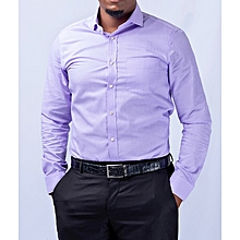 Official Shirt  Long Sleeve-slim fit For Men- Purple -