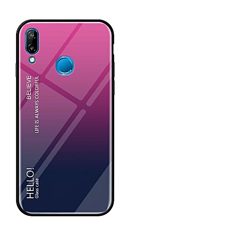 sale retailer 96074 81249 For Huawei P20 Lite Case,Ultra Thin Slim Shockproof Protective TPU Bumper  Case + Hard Back Tempered Glass Grip Cover For Huawei Nova 3E 152826 (Rose)