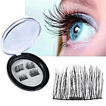 3D Reusable False Magnet Eyelashes,False Magnetic Eyelashes,No Glue Needed,1 Pair, 4 Pcs