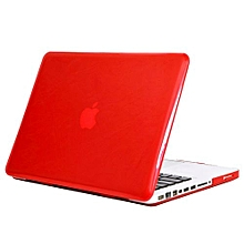 "13"" Pro With CD-ROM Case, Crystal Hard Rubberized Cover For 2008-2012 Macbook Pro 13.3 Inch, Red"