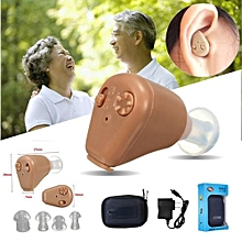 Rechargeable Hearing Aid Aids Mini Ear Sound Amplifier Adjustable Tone