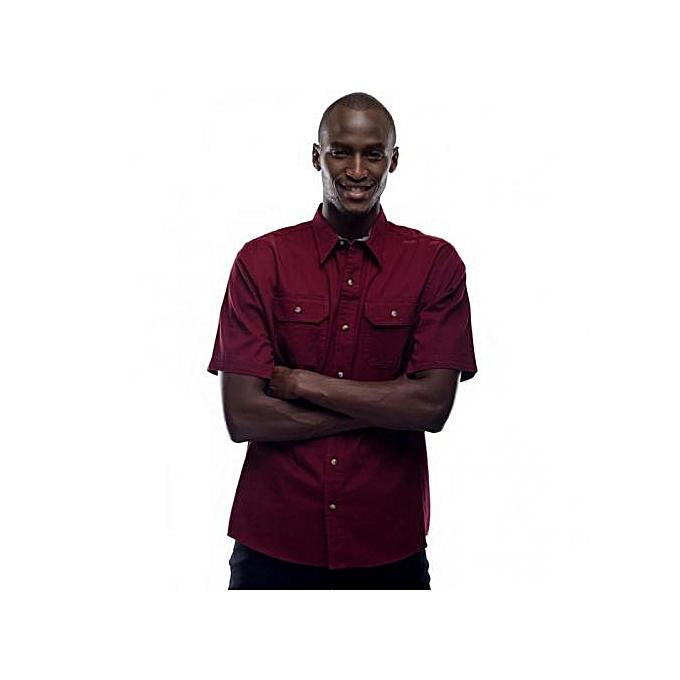 Biking Red Short Sleeved Men's Shirt