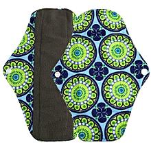 Reusable Bamboo Cloth Washable Menstrual Pad Mama Sanitary Towel Pad Green L