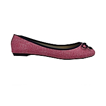 Pink Light PU Leather Women's Doll Shoes.