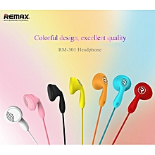 Remax RM-301 Candy series Stereo In-Ear Wired Headphone with Mic  OPTTCOOL