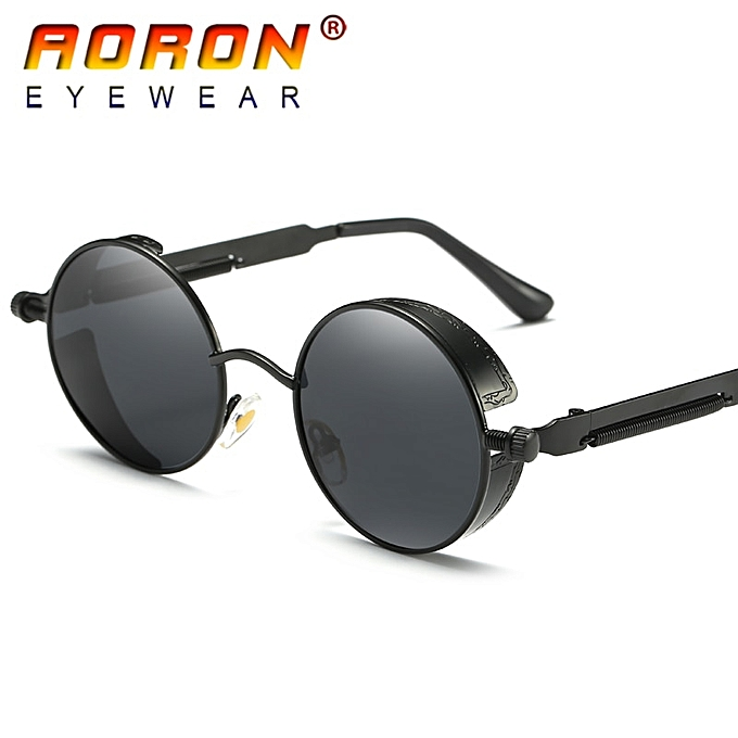 426a01b19 Brand Men Polarized Sunglasses Gothic Steampunk Coating Mirrored Round  Circle Sun Glasses Retro UV400 Vintage Eyewear