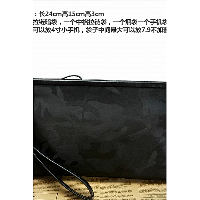 dd90425439a 【Small camouflage black】2018 new casual men's handbag camouflage waterproof  Oxford nylon cloth clutch
