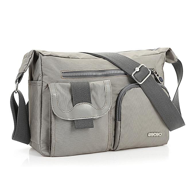 6b7565be0d80 New Fashion Men's Shoulder Bag Vintage Denim and Nylon Men Messenger Bag  Korean Style Cool Women Waterproof Handbag AWM89(Grey)
