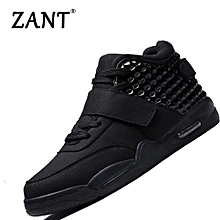 Men's Casual Shoes High-cut Fashion Shoes Black