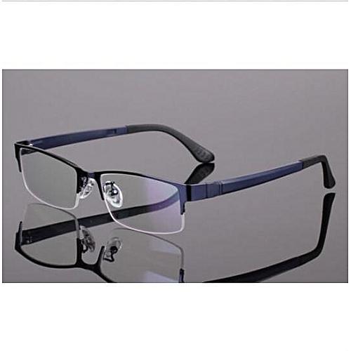 886537287817 Generic Men Women Metal Half Rimless Glasses Optical Eyeglasses Frame  Spectacles Eyewear