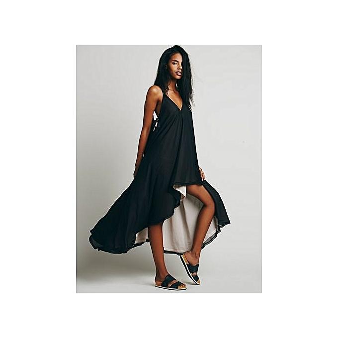 850d39656528c Summer Hot Sale Latest Stripes V-neck Backless Irregular Short Sexy Dress  Sexy Armhole Fashion Dresses Party Dresses (China Size)