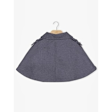 Women Double-Breasted Short Cape - Grey