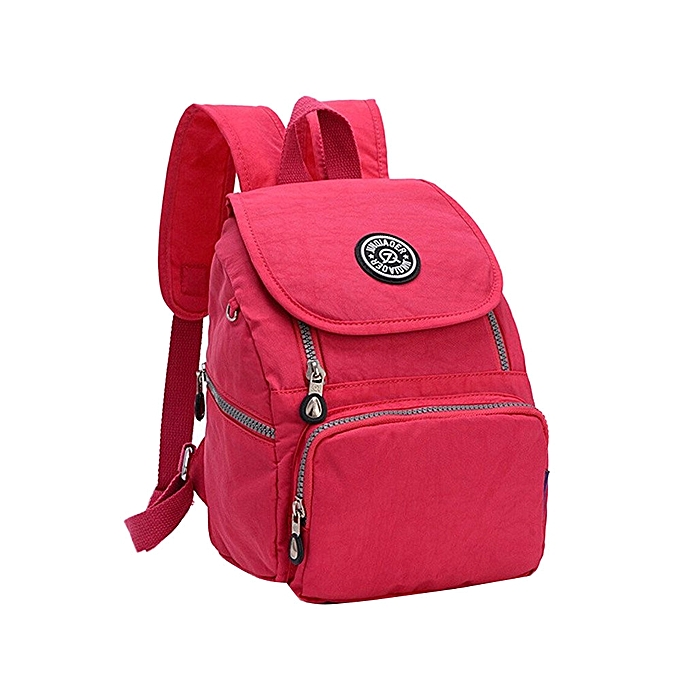 Fashion Africanmall store Nylon Backpack Purse for Women  Girls Small  Lightweight Daypack HOT-Hot red 39c089252a472