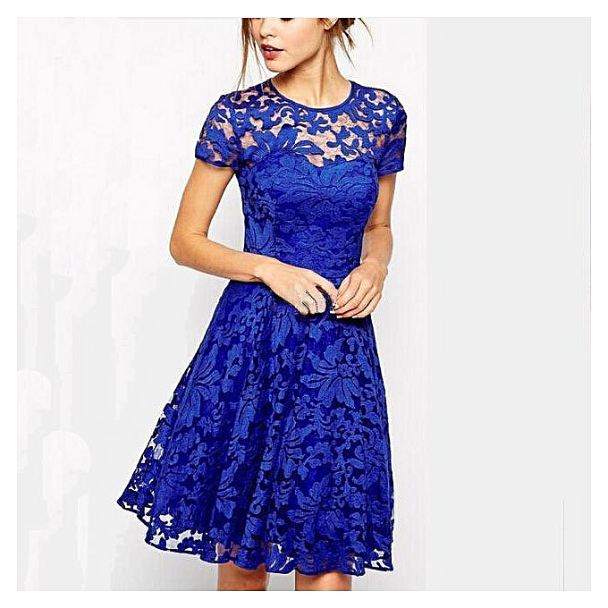 Buy Generic Refined Dresses For Ladies Women Floral Lace Party ...