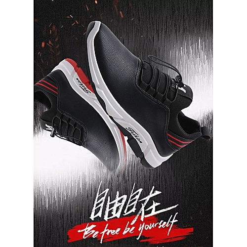 95f2ed7d8ca Generic Spring 2019 Leather Fabric Comfortable Recreational Sports Men's  Shoes Fashion Skate Shoes