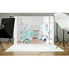 Andoer 2.1 * 1.5m/7 * 5ft First Birthday Backdrop Balloon Cake Windows Fireplace Photography Background Baby Boy Kids Photo Studio Pros