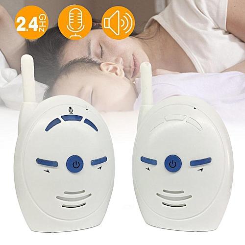 2.4GHz Wireless Infant Baby Monitor Portable Audio Walkie Talkie Kit Phone Alarm # EU