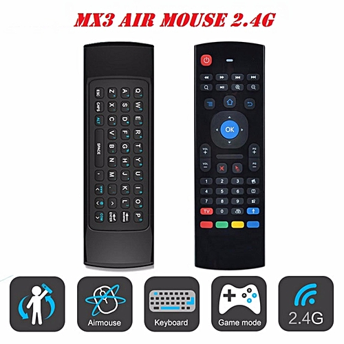 2 4GHz Fly Air Mouse Wireless Keyboard Remote for Zidoo Himedia Minix Ubox  Evpad (Black) YCMI-A