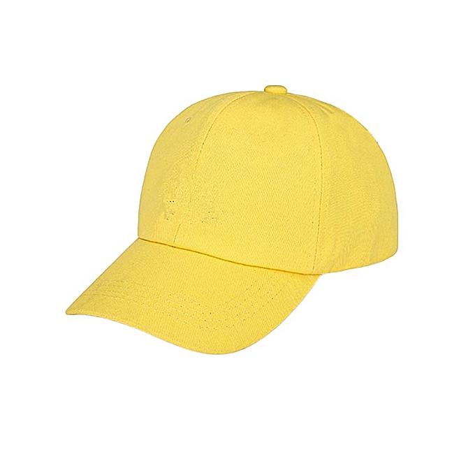 fa282a5be78ef Generic Men s Women s plain Cap Adjustable Baseball Unisex cap-Yellow