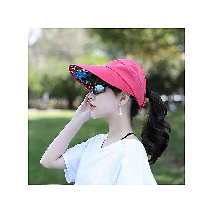 a5094450f09ac Women Summer Sun Hats Sun Visor Hat Sun Hats With Big Heads Beach Hat HOT