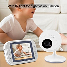 Wireless 2.4GHz 3.5inch Digital Color LCD Baby Video Monitor Night Vision Camera (US Plug)