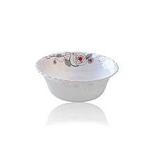 """RF6739 - 9"""" Opal Ware Bowl Liza - 3 Pieces - White"""