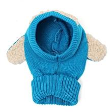 Winter Beanie Baby Kids Boy&Girl Warm Hat Hooded Scarf Earflap Knitted Wool Cap Blue