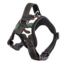 GB Universal Pets Dogs Strong Pet Training Harness Vest Dog Leash Collar-camouflage