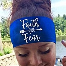 Ladies Letter  Sports Yoga Sweatband Gym Stretch Headband Hair Band