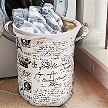 Waterproof Cotton Linen Laundry Basket Storage Bag Washing Clothes Hamper Sorter Coffee Tower