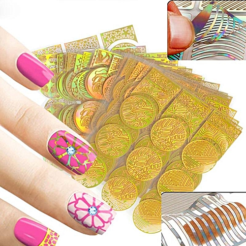 Buy Generic Mileegirl 24sheetspack 3d French Style Nail Art