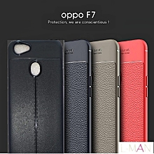 Oppo F7 Shock Proof Carbon Fiber Rugged Armor Soft Back Case