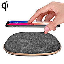 W1  Simple Round Metal 10W Max Qi Wireless Charger Pad, For iPhone, Galaxy, Huawei, Xiaomi, LG, HTC and Other Smart Phones(Grey)