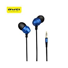 ES - Q8 3.5MM Plug In-ear Earphones Stereo Music Deep Bass Headphones - Blue
