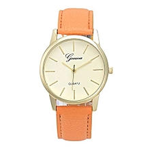 Geneva Women's  Wrist Watch  Women Leather Analog Quartz Wrist Watch OR@Orange