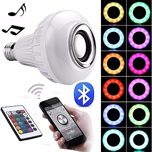 100% Quality Wireless Bluetooth Music Bulb Light Loudspeaker Intelligent E27 Bulb 12w Led Speaker Color-changing For Home Stage By Samrtphone Consumer Electronics