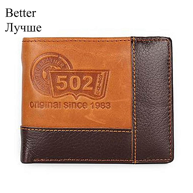 252511f90262 GUBINTU Leather Men Wallets Coin Pocket Zipper Real Men's Leather Wallet  with Coin High Quality Male Purse cartera