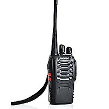 BF- 888S Walkie Talkie Single Band Two Way Radio Interphone - Black