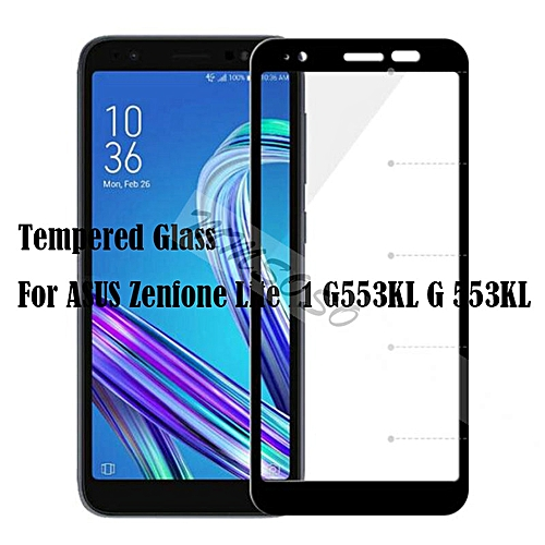 new concept 4dbd2 20645 Tempered Glass For ASUS Zenfone Lite L1 G553KL Full Cover 9H Protective  film Screen Protector On For ASUS Zenfone Lite L1 G553KL