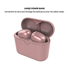 Wireless Earbuds, S570 TWS Bluetooth Headphone Smallest Mini Headset Twins Earphone with Charging Case - Rose Gold