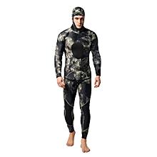 2PCS Men Diving Suit Neoprene 3mm Spearfishing Wetsuit Surf Snorkel Swimsuit  XL